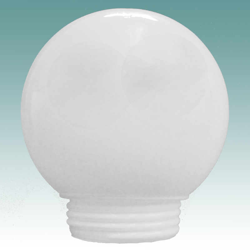 1143 White Threaded Neck Globe 3 1 4 Quot X 6 Quot Glass