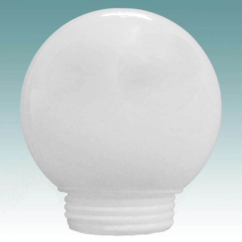 1143 White Threaded Neck Globe 3 1 4 Quot X 6 Quot Glass