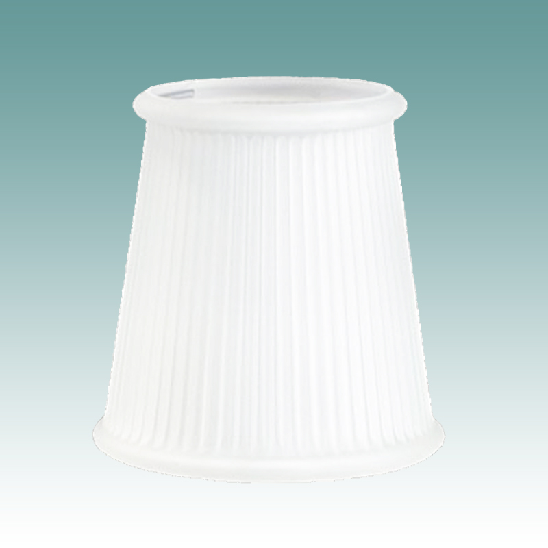 1201 Frosted Glass Rib Clip On Shade Glass Lampshades