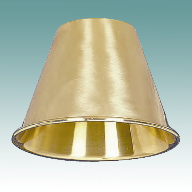 Cleveland Vintage Lighting Clip On Lampshade: Polished Brass Clip On Shade