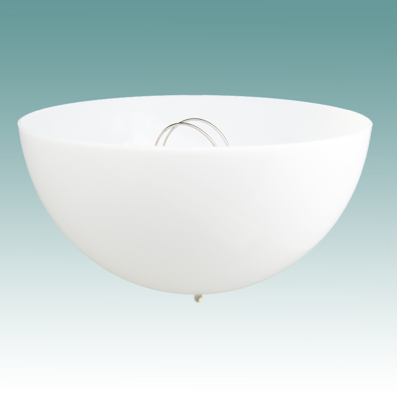 #1211 - Acrylic White Dome Clip On Shade - Glass Lampshades