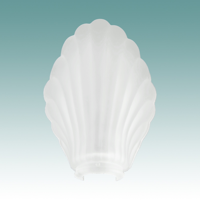 1447 Shell Shaped Etched Desk Lamp Shade Glass Lampshades
