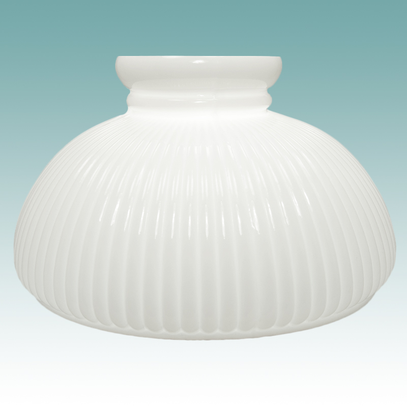 2319 white ribbed student shade 10 glass lampshades 2319 white ribbed student shade 10 aloadofball Image collections