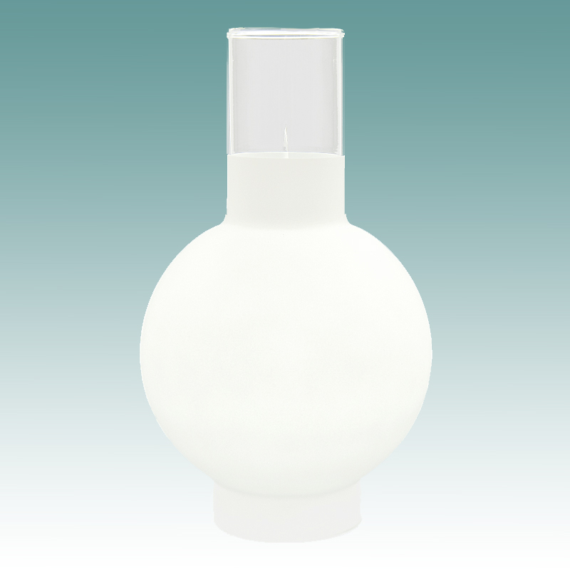 5590 3 4 Frosted Glass Ball Chimney 2 9 16 Quot X 8 1 4