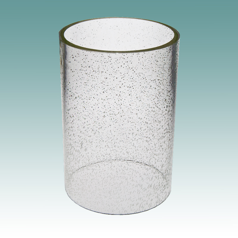 5917 Clear Seeded Glass Cylinder 5 X 7 1 4 Glass Lampshades