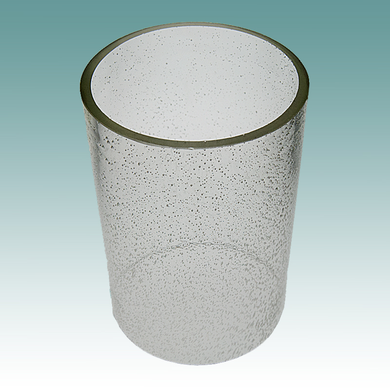 """5917 S - Clear Seeded Glass Cylinder 5"""" x 7 1/4"""" - Glass Lampshades"""