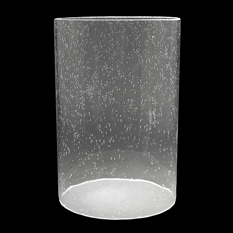 """#5917 - Clear Seeded Glass Cylinder 5"""" x 7 1/4"""" - Glass ..."""