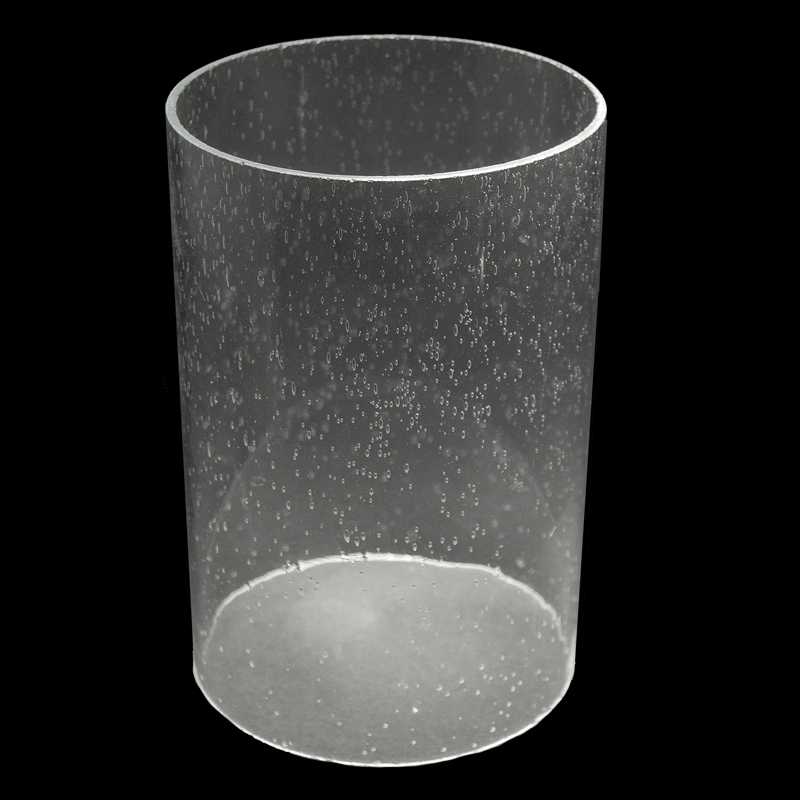 5930 Clear Seeded Glass Cylinder 5 1 8 Quot X 7 3 4