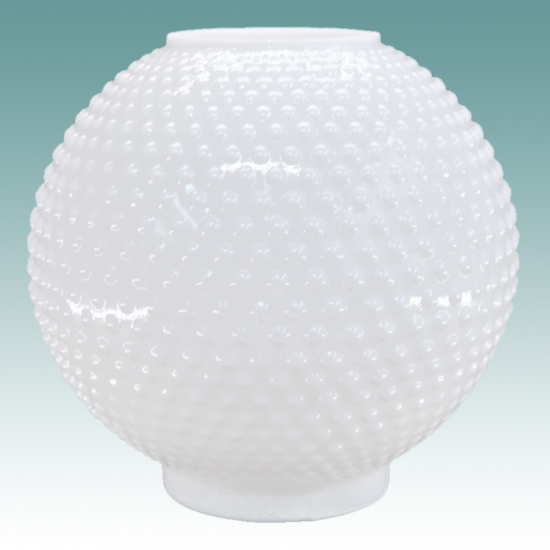 6104 S White Hobnail Gwtw Globe 8 Quot Glass Lampshades