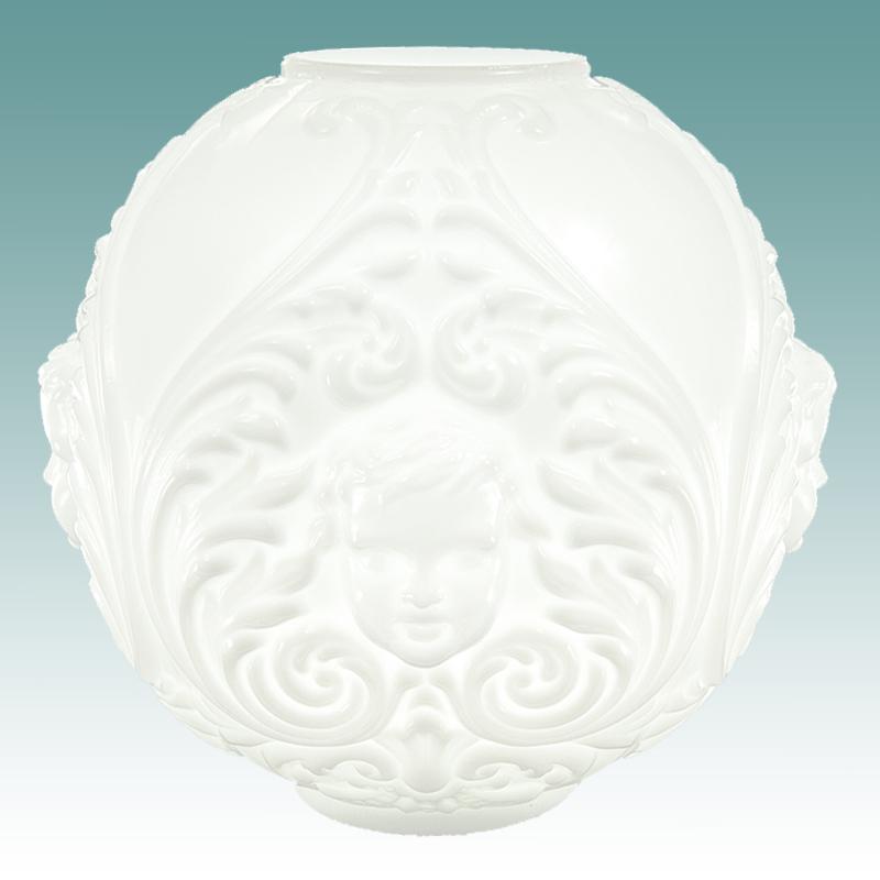 6120 S White Cherub Face Gwtw Globe 10 Quot Glass Lampshades