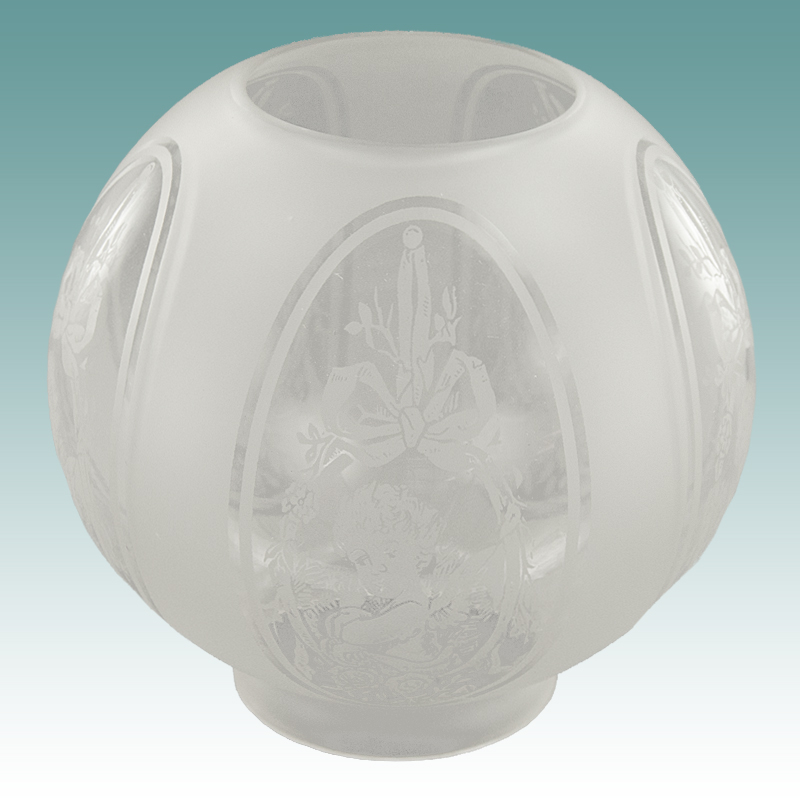 6145 S Cherub Etched Glass Gas Shade 8 Quot Glass Lampshades