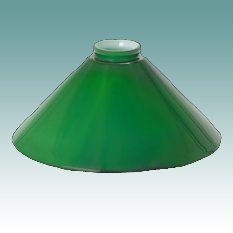 6652 S Green Cased Cone 10 Quot Glass Lampshades