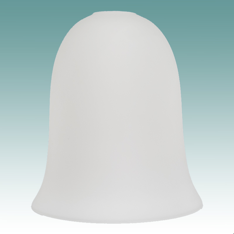 #6704 - White Frosted Neckless Bell Shade - Glass Lampshades