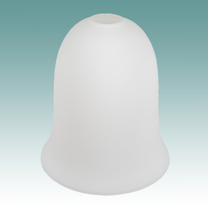 6704 White Frosted Neckless Bell Shade Glass Lampshades