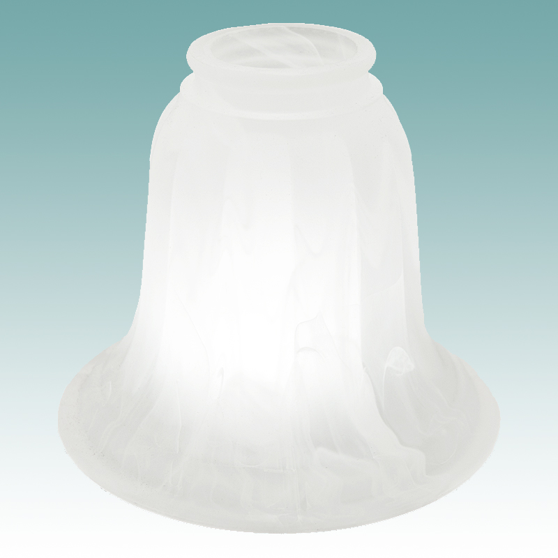 7562 Faux Alabaster Bell Shade Glass Lampshades
