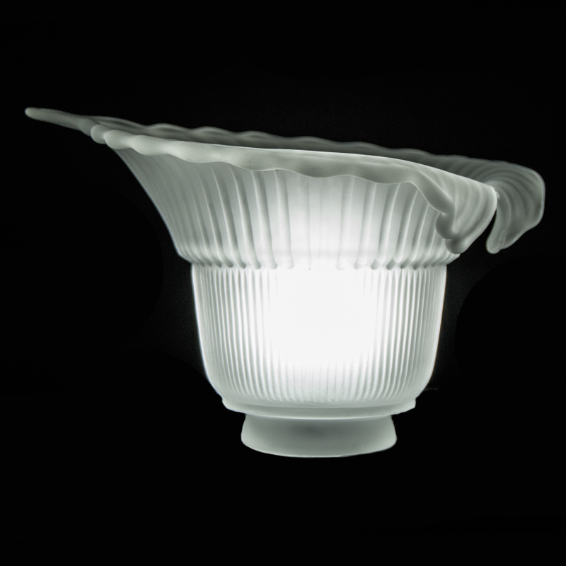 7596 Frosted Satin Petal Glass Shade Glass Lampshades
