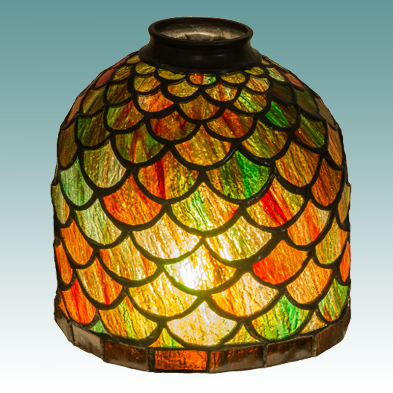7602 S Tiffany Style Various Colors Shade Glass