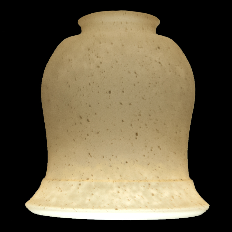 7615 Light Amber Bell Shade Glass Lampshades