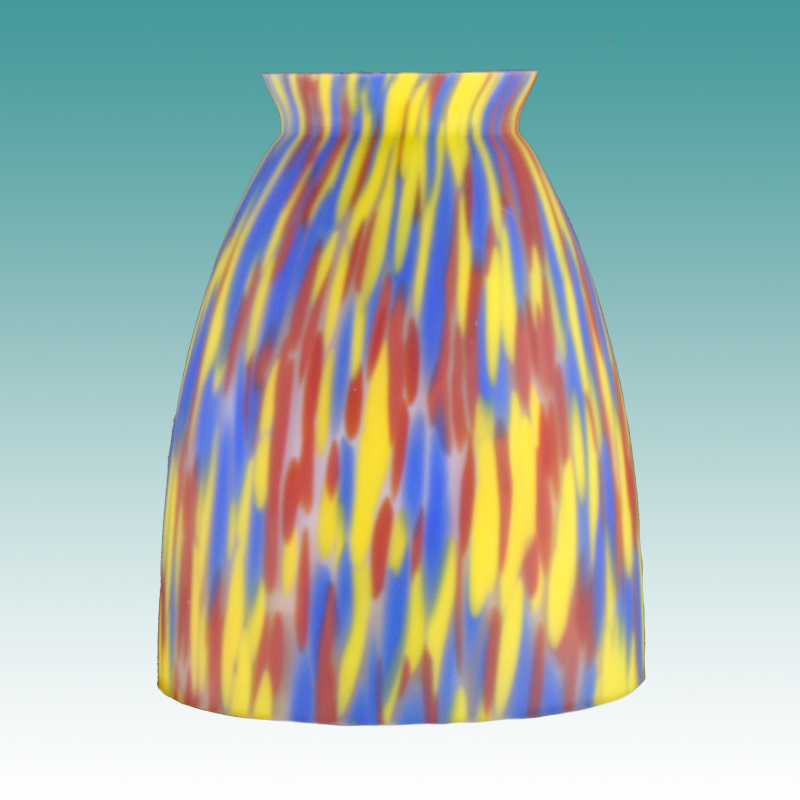 7641 Yellow Orange Blue Art Glass Glass Lampshades