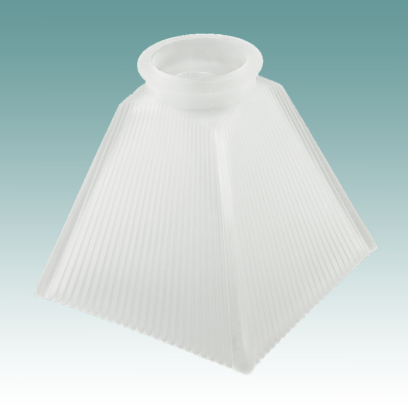 7688 Mission Frosted Ribbed Shade Glass Lampshades