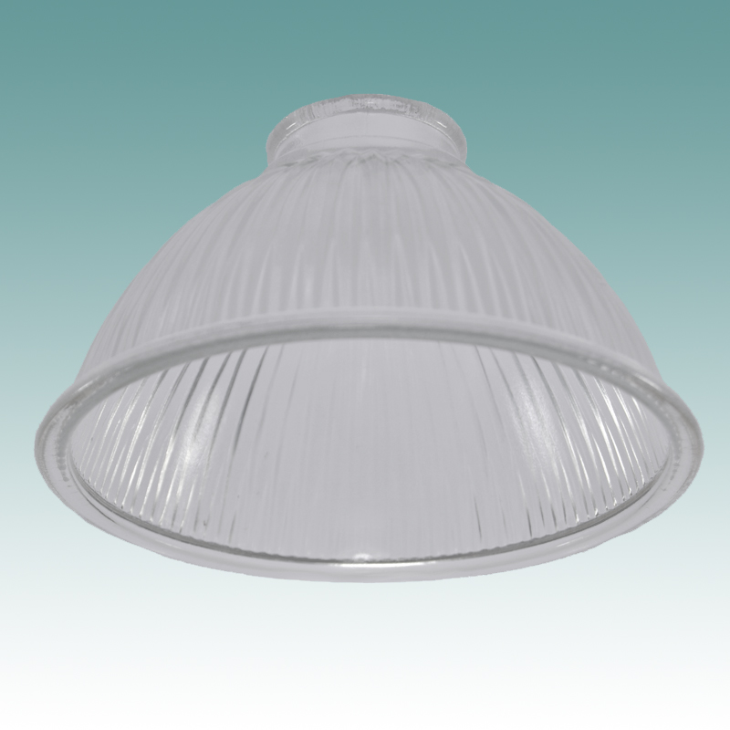 7722 Clear Prismatic Ribbed Glass Shade Glass Lampshades