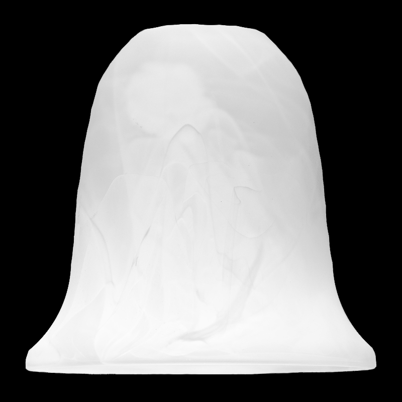 7783 Tall Faux Alabaster Bell Shade Glass Lampshades