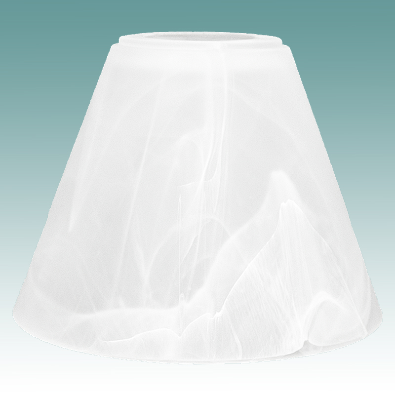 7788 Conical Faux Alabaster Shade Glass Lampshades