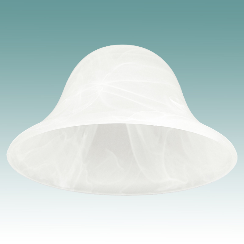 7789 Large Faux Alabaster Bell Shade Glass Lampshades