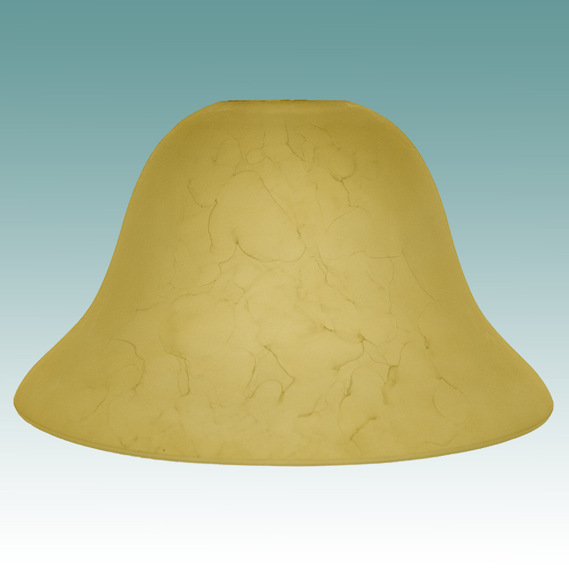 7792 Large Amber Bell Shade Glass Lampshades