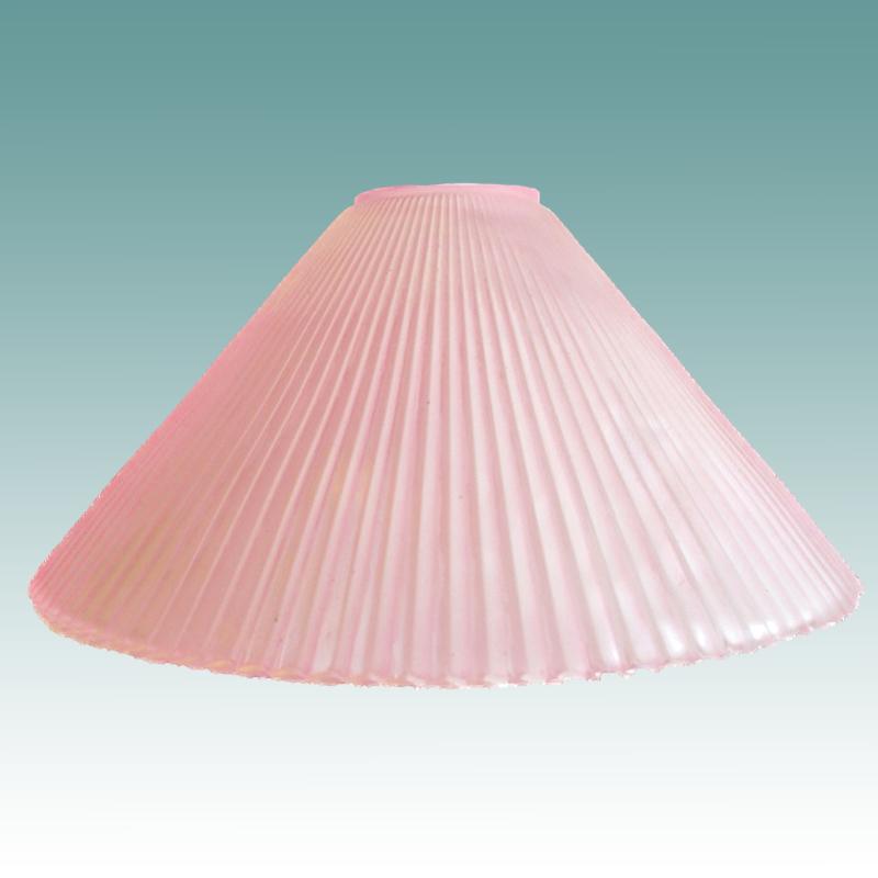 7826 Ribbed Pink Cone Shade Glass Lampshades