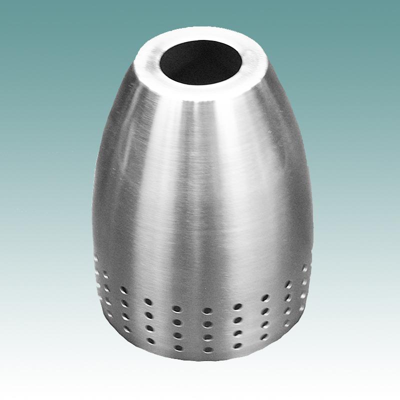 7840 Brushed Nickel Metal Shade Glass Lampshades