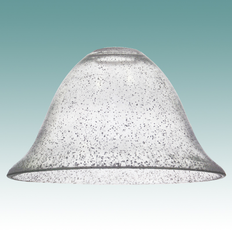 7846 Clear Seeded Glass Bell Shade Glass Lampshades