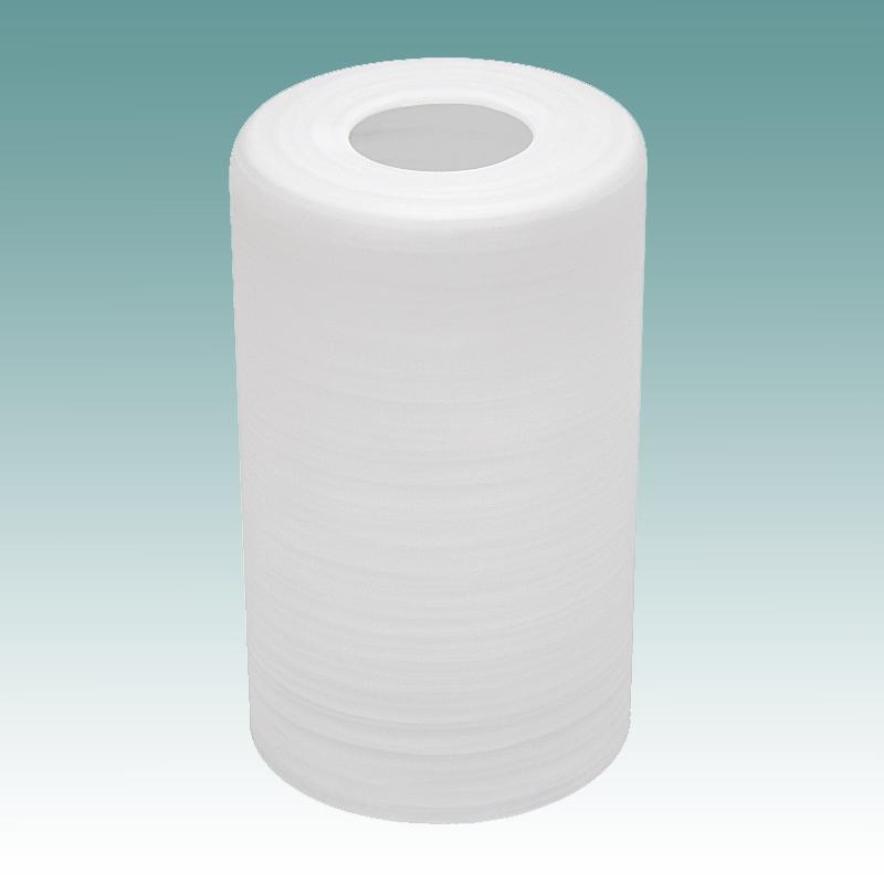 7888 White Swirl Satin Cylinder Neckless Shade Glass
