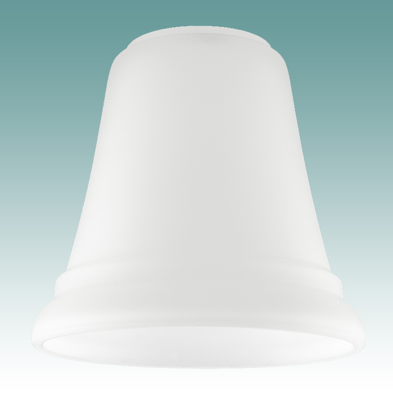 7905 Frosted White Neckless Shade Glass Lampshades