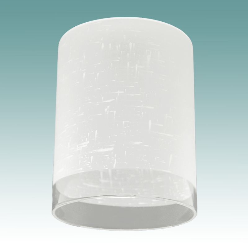 7913 Frosted Amp Clear Cylinder Neckless Shade Glass