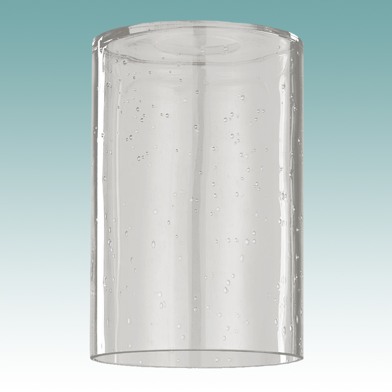 7919 Seeded Glass Cylinder Neckless Shade Glass