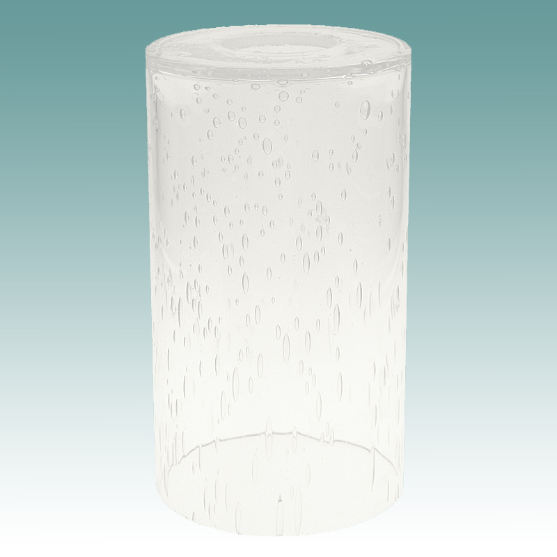 7919 Seeded Glass Cylinder Neckless Shade Glass Lampshades
