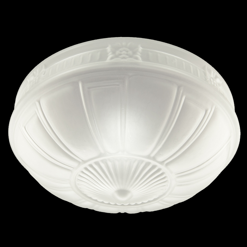 8117 S - Embossed Frosted Dome Shade 12 U0026quot  X 7 U0026quot