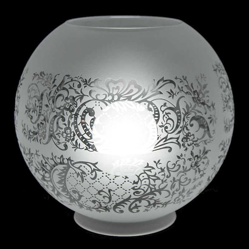 8390 Etched Globe 8 Quot Glass Lampshades
