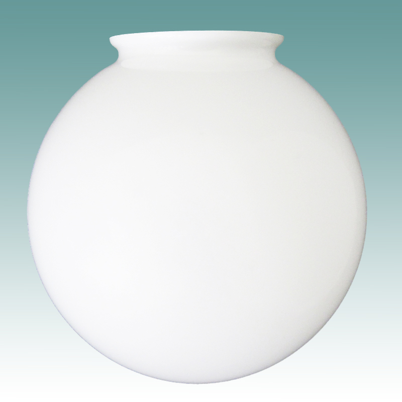 8409 White Glass Globe 4 X 12 Glass Lampshades