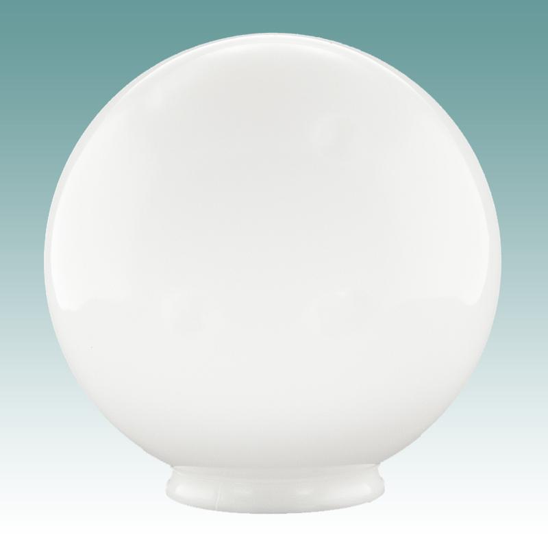 "8439 White Acrylic Globe 4"" x 12"" Glass Lampshades"