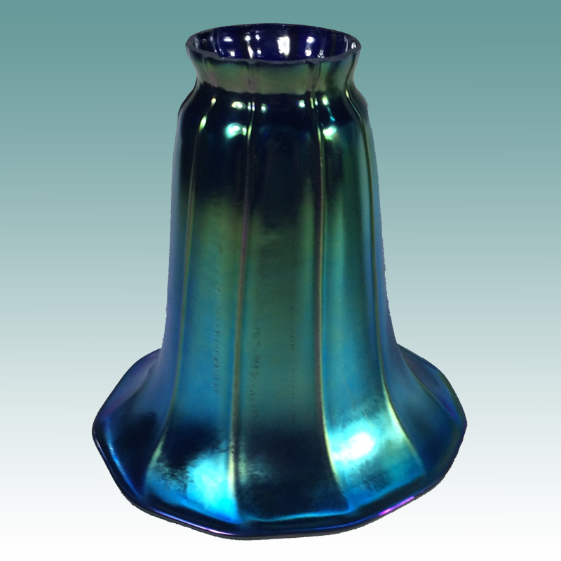 8511 S Blue Iridescent Shade Glass Lampshades