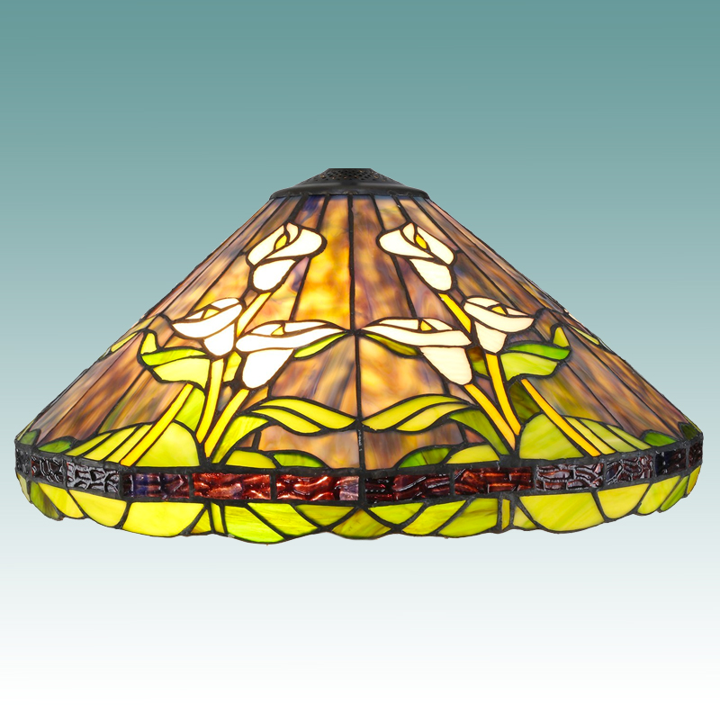 9612 s tiffany style calla lily lamp shade 18 glass lampshades. Black Bedroom Furniture Sets. Home Design Ideas