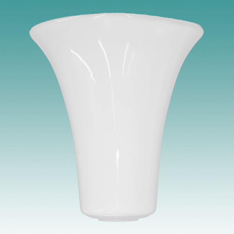9866 S Opal Glass Tulip Shaped Torchiere Shade 8