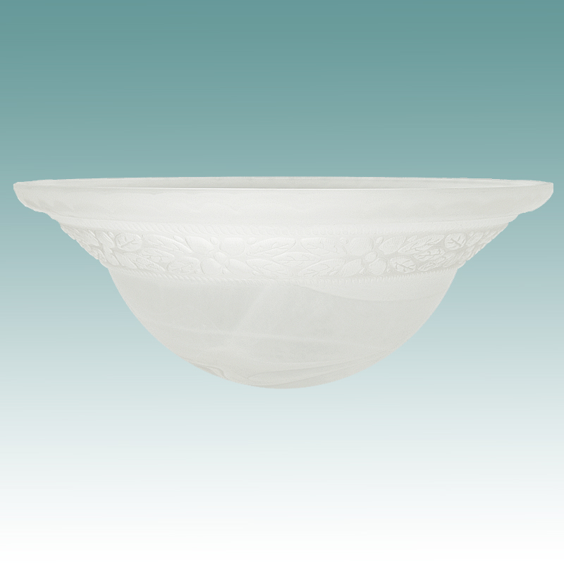 9967 White Swirl Faux Alabaster With Floral Pattern