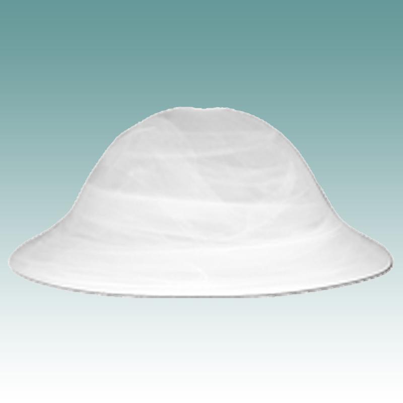 "#9978 S - White Swirl Glass Dome Shade 15 1/2"" - Glass ..."