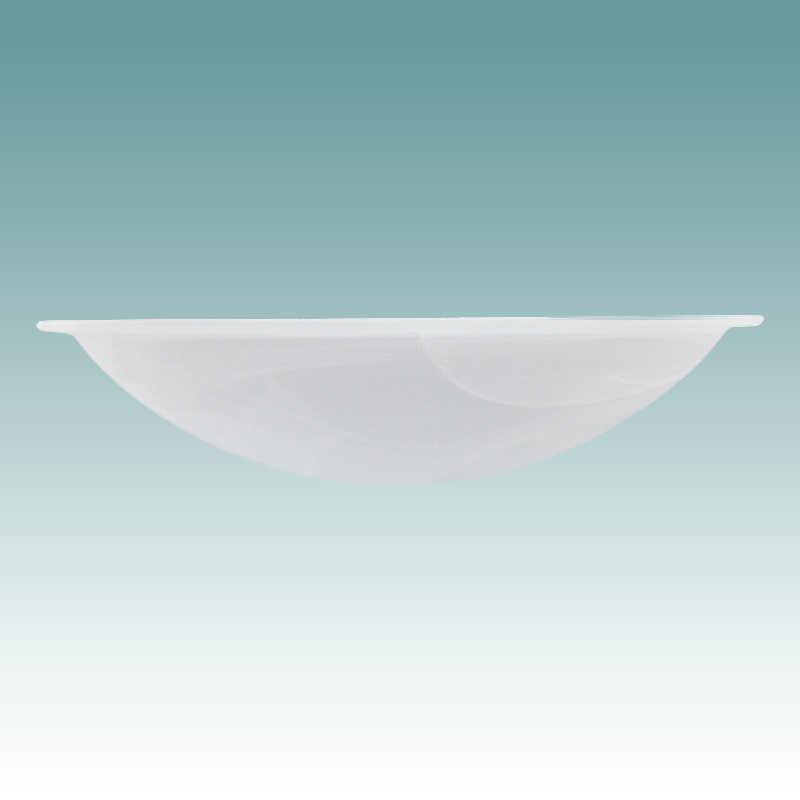 9981 S Faux Alabaster Lip Edge Shade 15 5 8 Quot Glass