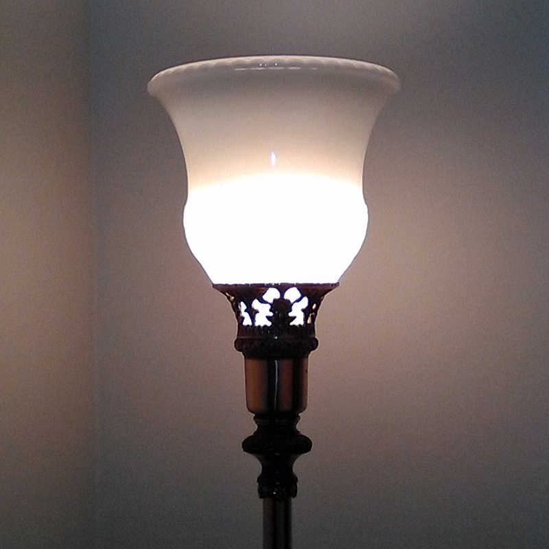 Torchiere Glass Lamp Shades Pearl Replacement Torchiere Shade White Swirl Ribbed Glass